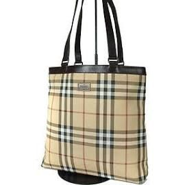 4a2cb71437 Auth Burberry London Nova Check Pvc Canvas Leather Beige Brown Tote ...