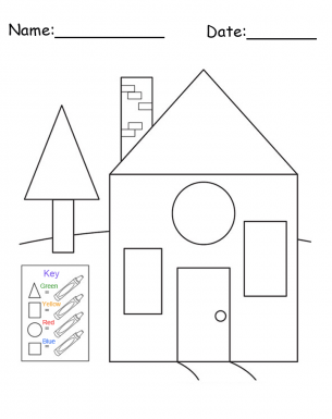 free printable house shapes worksheet i would use this at the beginning of 1st grade