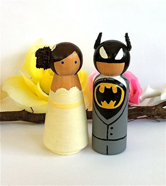 Wedding cake toppers :) haha if we turned the batman into a ninja ...