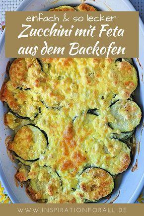Überbackene Zucchini – leckeres Rezept für Zucchinischeiben mit Feta #abendessenschnell