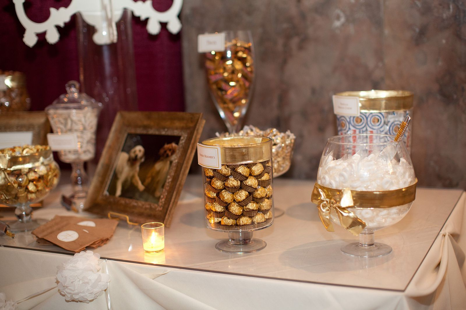 Sweet amp sparkly wedding candy buffet pictures to pin on pinterest - Gold Candy Bar For Wedding All Labels And Signs Are Courtesy Of Design The