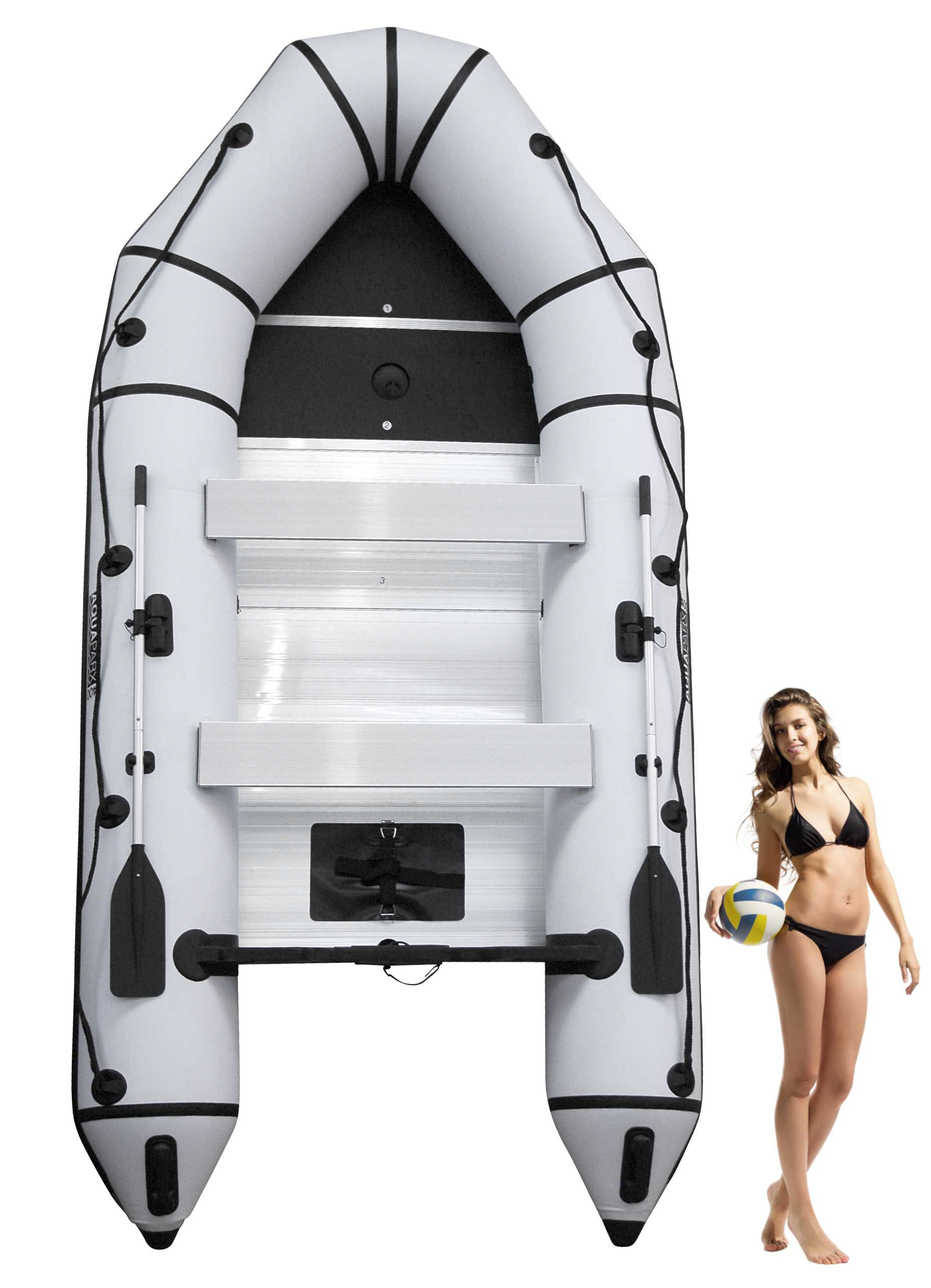 Aquaparx Schlauchboot Rib 400 White 400cm Lang Weiss Schwarz Fur Bis Zu 7 Personen Schlauchboot Schlauchboote Aluminiumboote