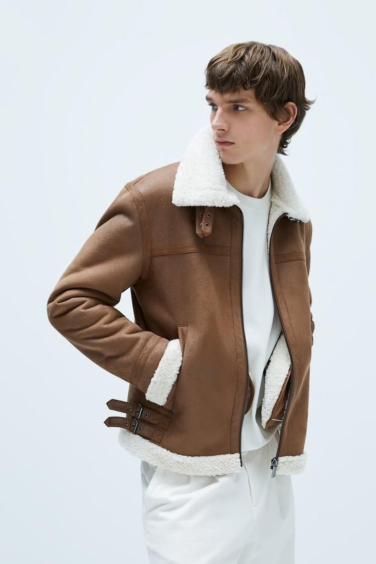 Double Faced Jacket Jackets Zara Man Faux Suede Jacket