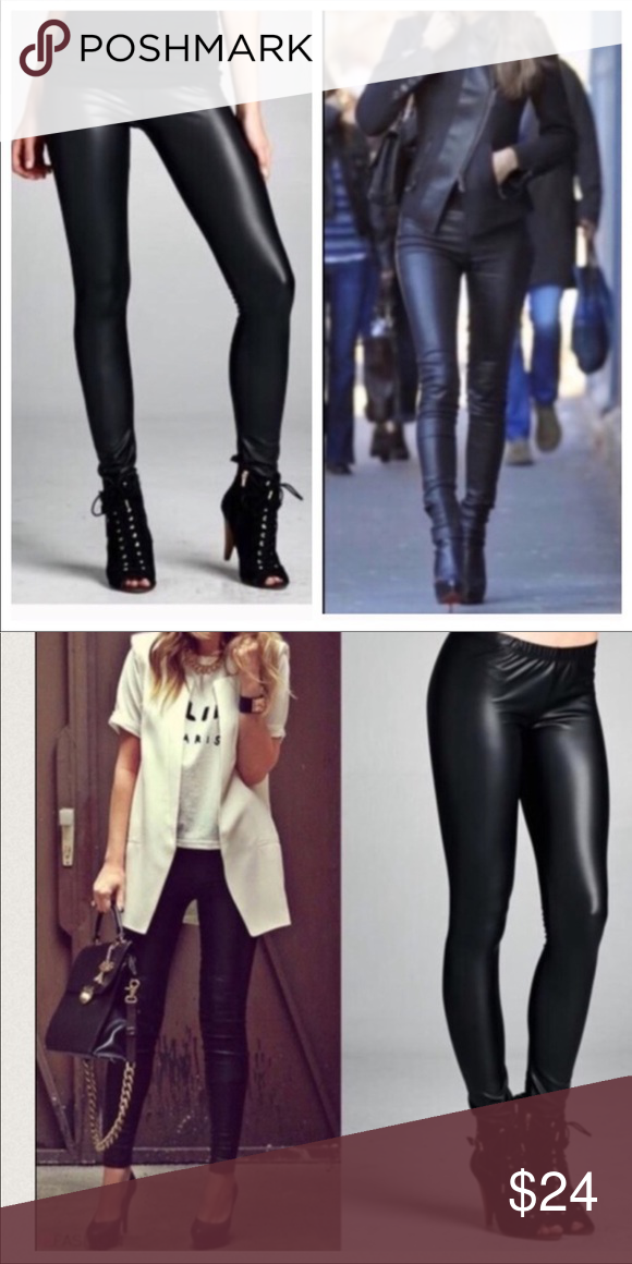 purchase genuine new lower prices new specials Black faux leather leggings Black best fitting faux leather ...
