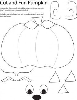 Cut and Create Pumpkin Crafts