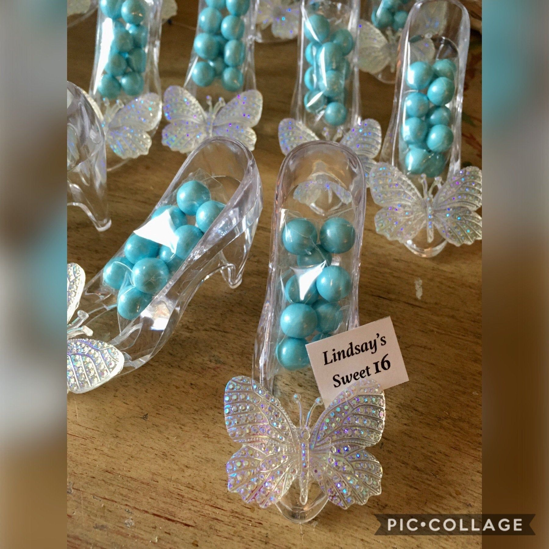 12 pc CINDERELLA SHOE FAVOR, Cinderella Sweet 16, Cinderella 1st Birthday, Cinderella Bridal Shower, Cinderella Decoration, Cinderella Favor