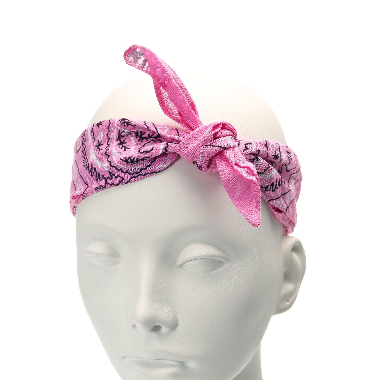 Pink Bandana Square Pink bandanas, Hair jewelry, Hair