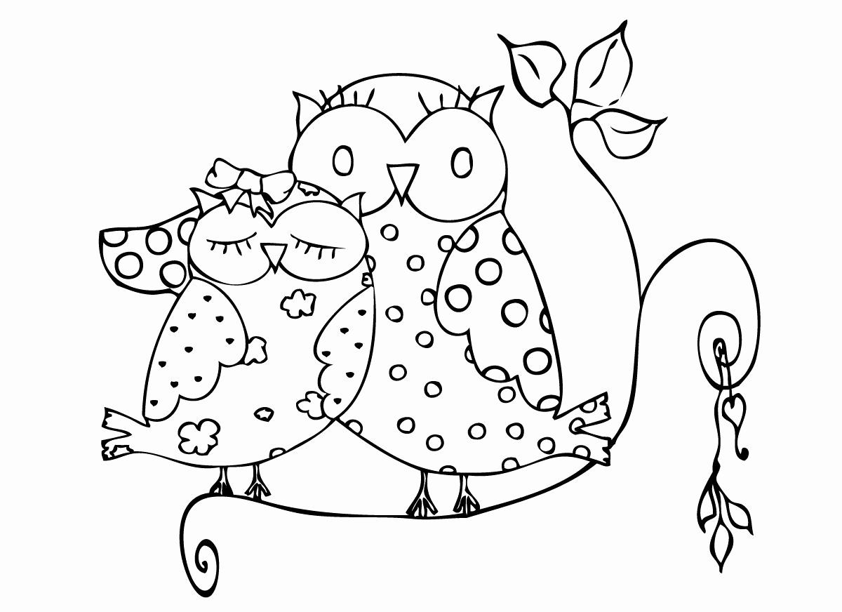 Valentine Animal Coloring Pages In 2020 Owl Coloring Pages