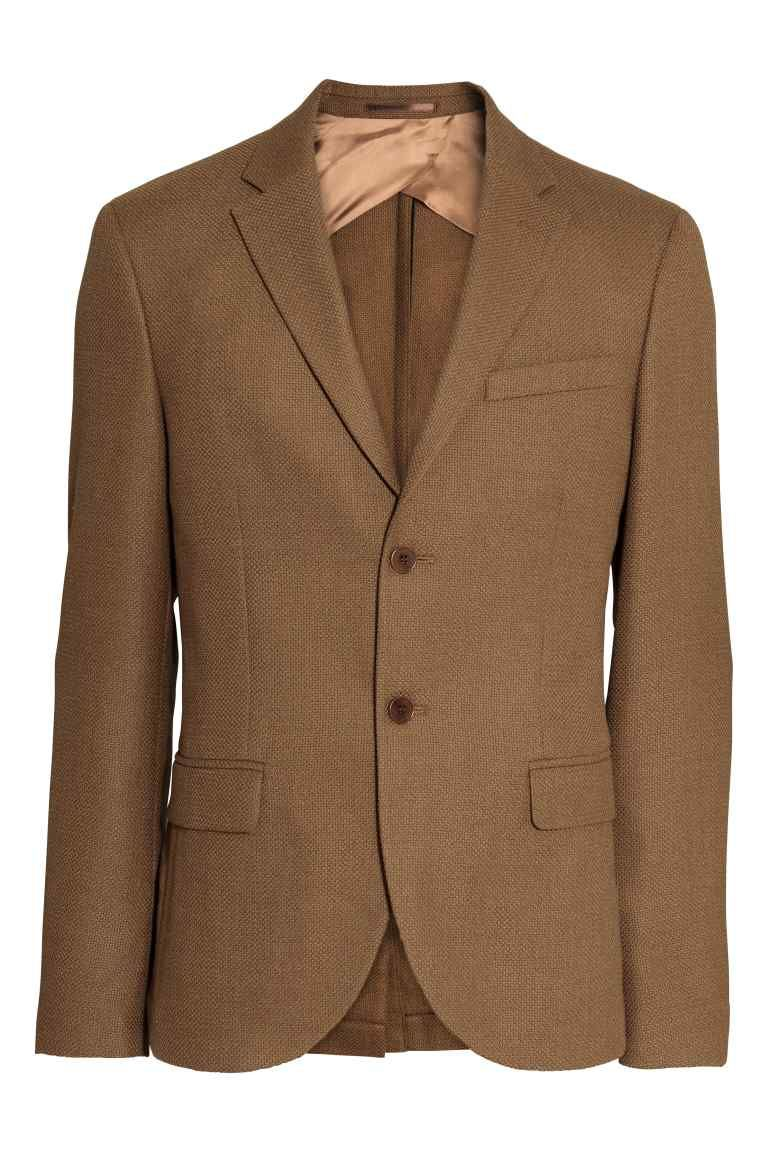 H&M wool blazer camel