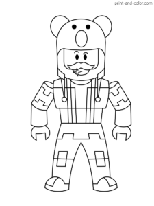 Roblox Pages Printable Coloring Pages