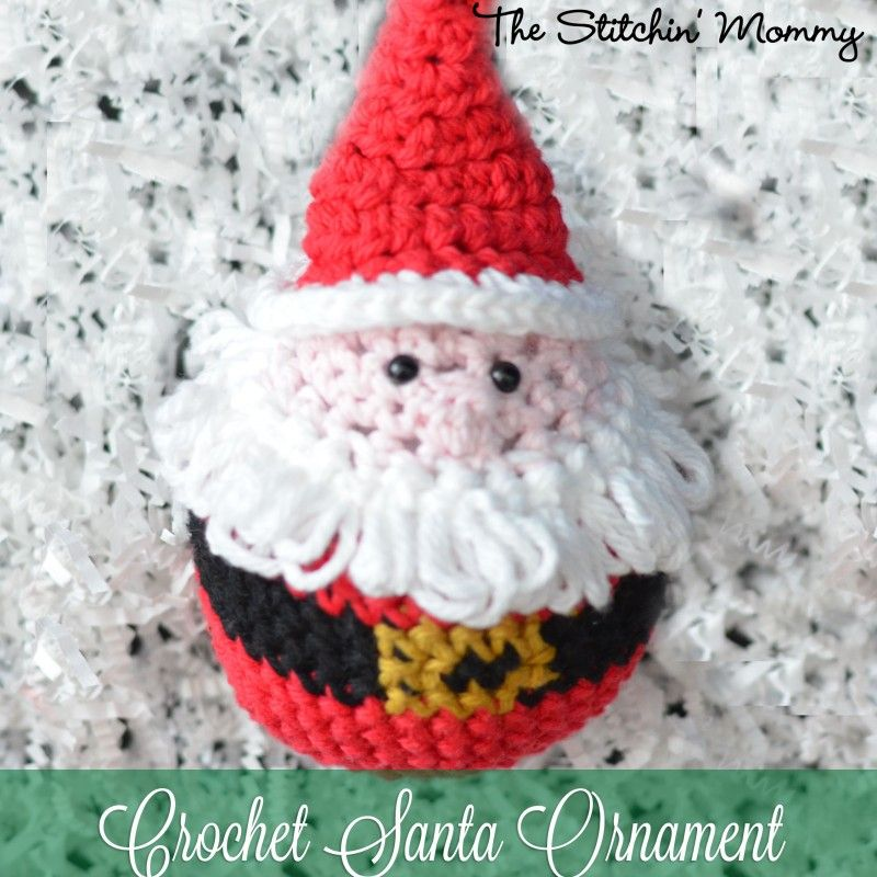 Crochet Santa Ornament – Free Pattern | Christmas Crochet | Pinterest