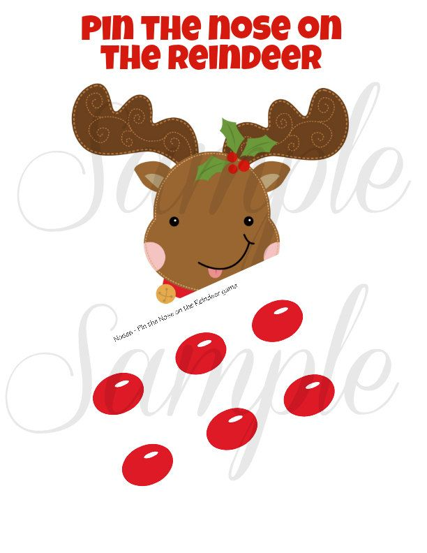 Christmas PIN the NOSE on the Reindeer Game - PRINTABLE Download - Fun Family Party diy. $2.99, via Etsy.