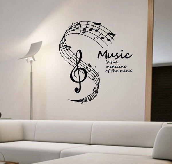 Music Wall Decal Medicine Of The Mind Vinyl Sticker Art Decor
