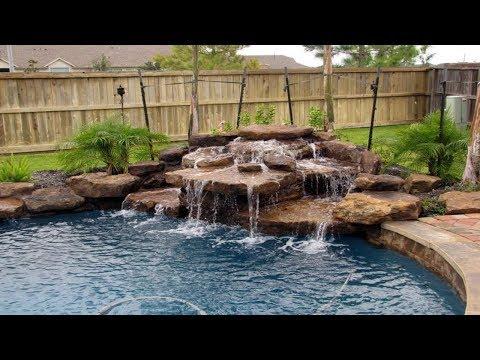 Pin By Debbie Wesseler On Pools Pool Waterfall Backyard Pool Landscaping Pool Landscaping