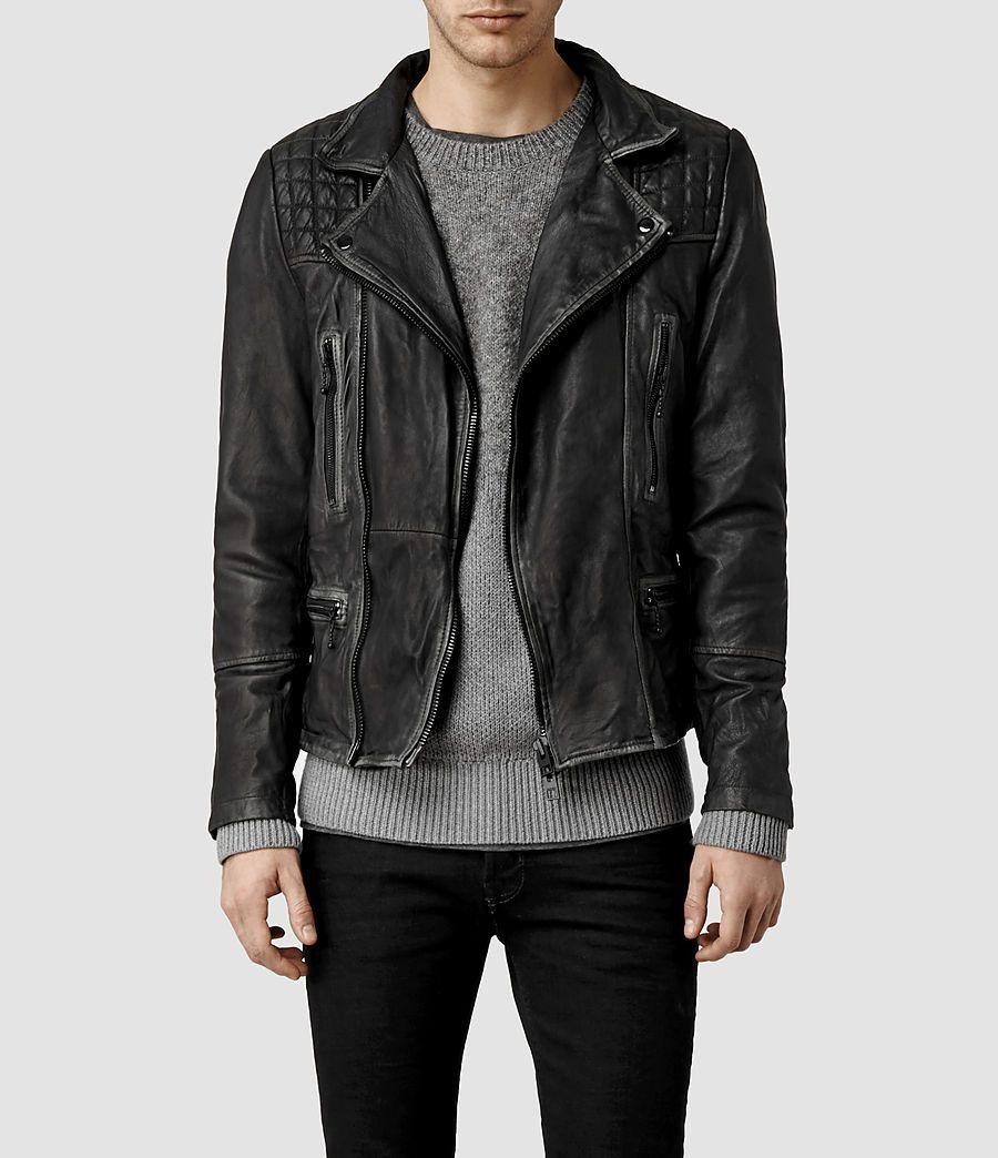 0abb362c9 All Saint's Men's Cargo Leather Biker Jacket | Felix | All saints ...