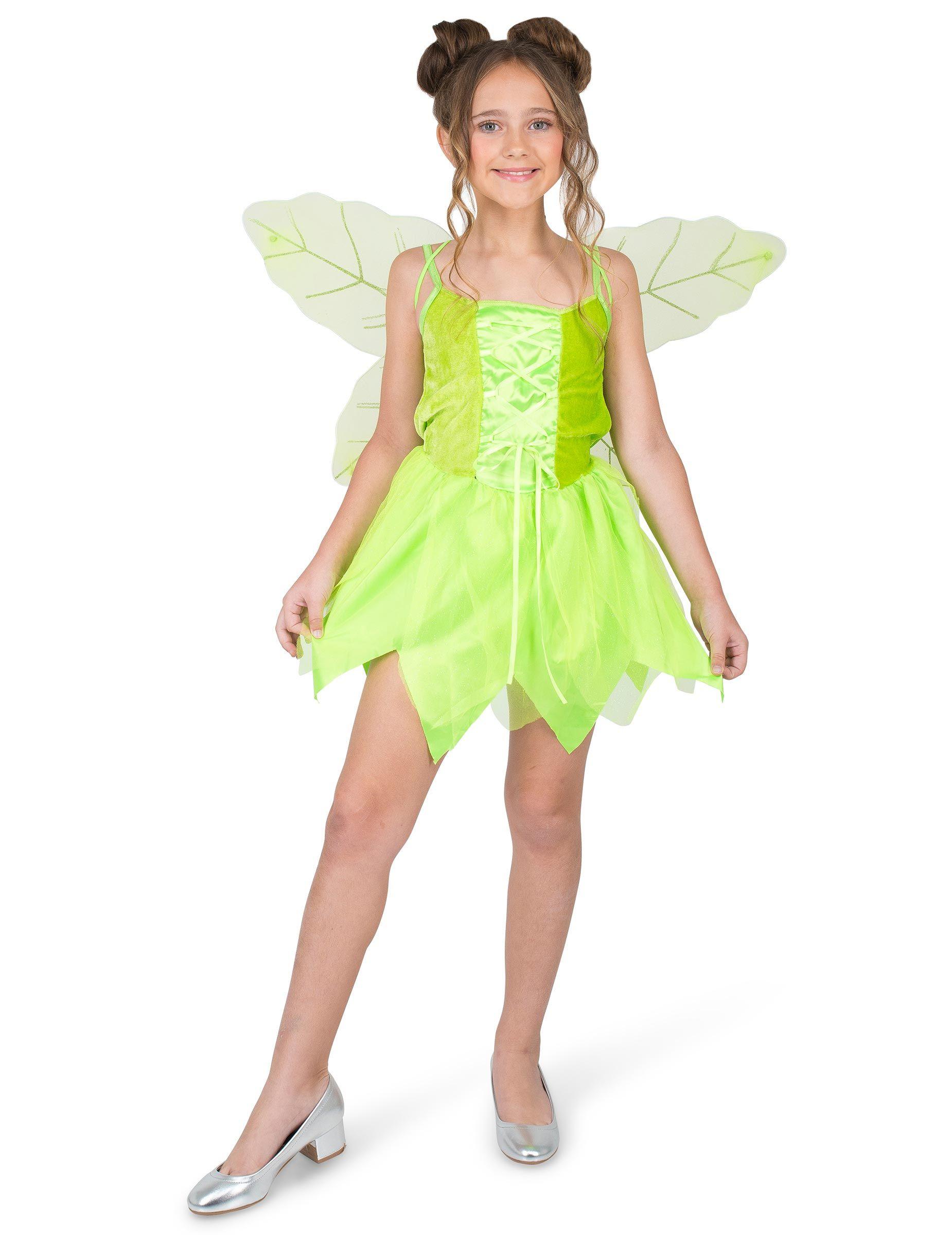 6f5dc6378 Disfraz de hada del bosque encantada niña: Este disfraz de hada incluye un  vestido y
