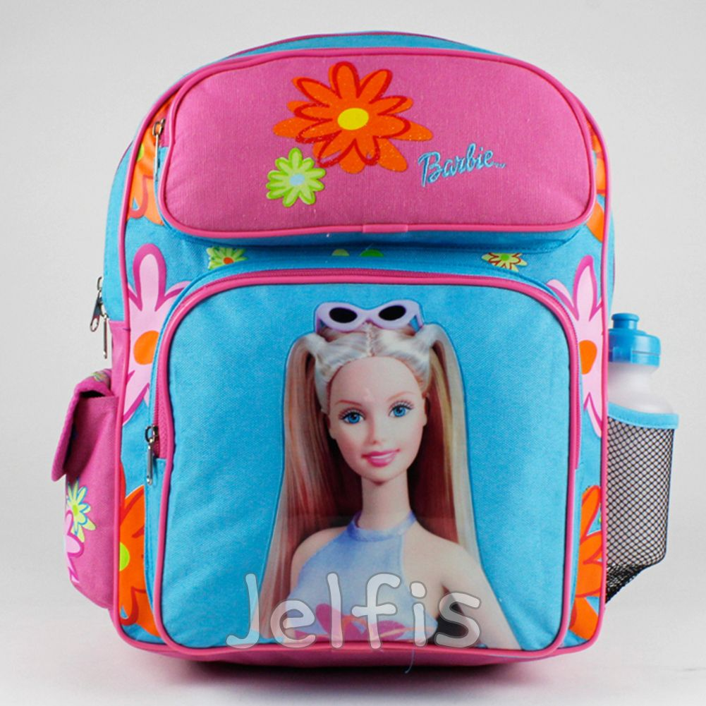 Jelfis Mattel Barbie Backpack Spring Daisy 16 Large S School Book