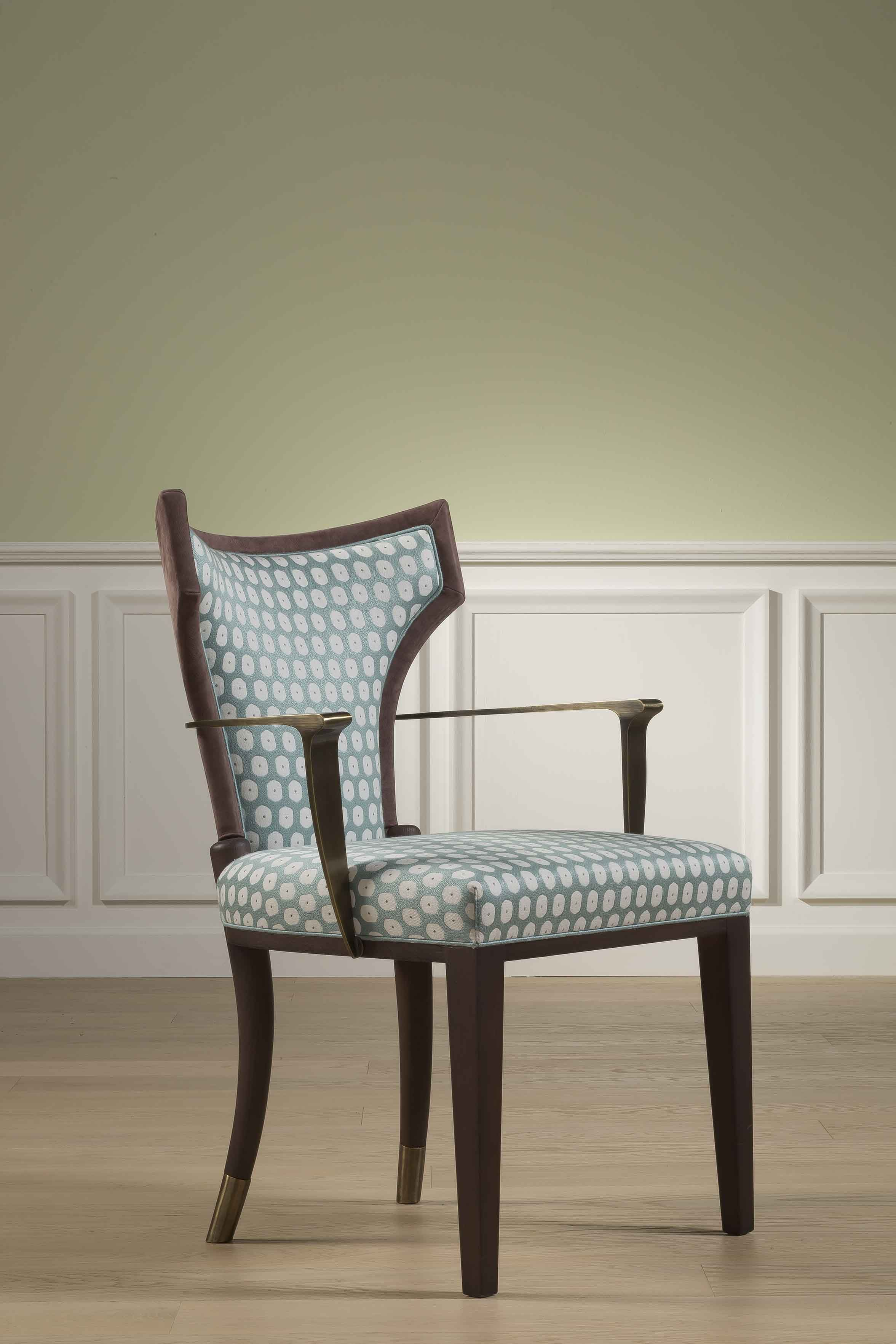 Angelina Chair With Antique Brass Arms Bellavista Collection 2015  # Meuble Tv Angelina