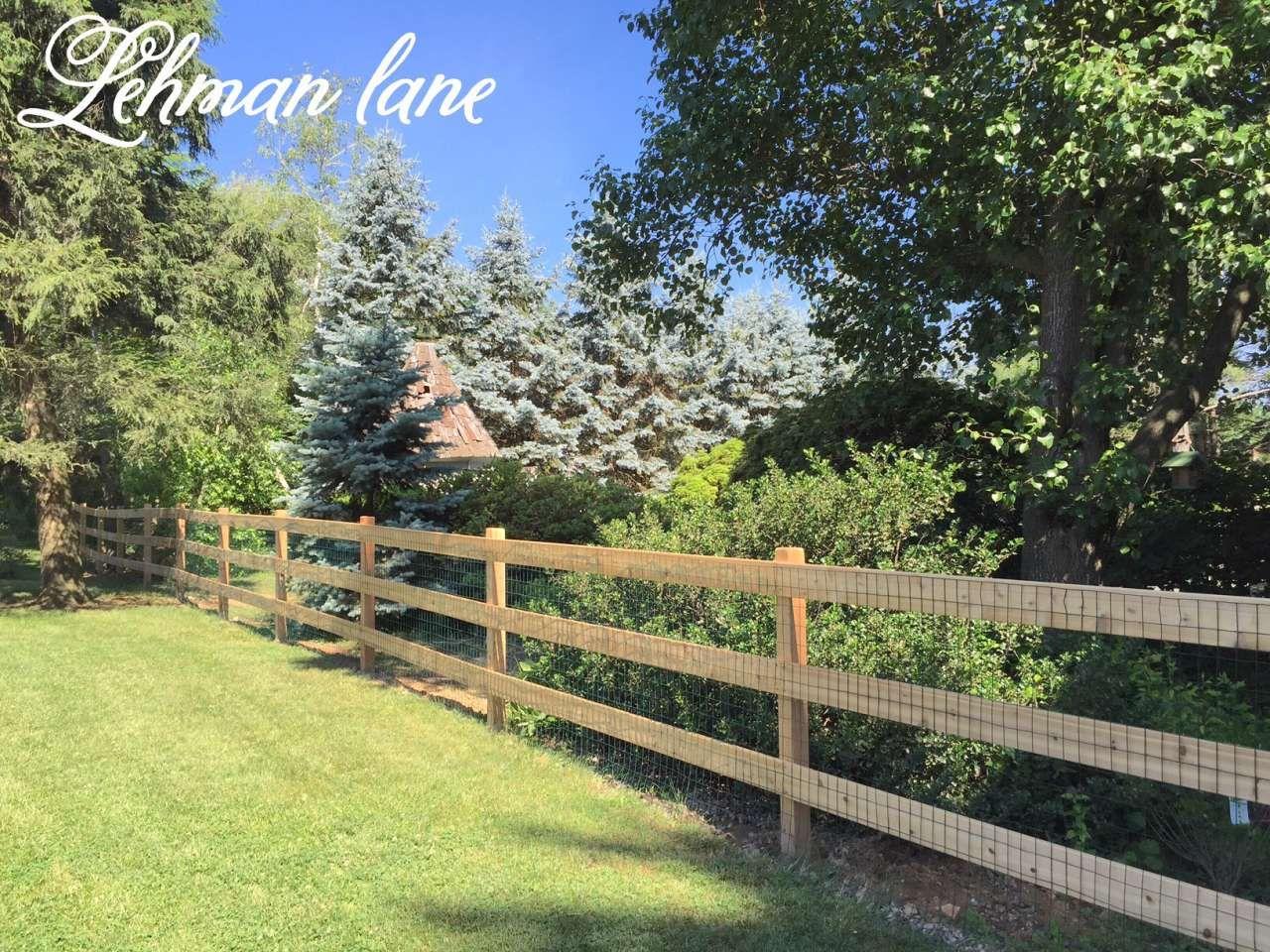 Cedar Post And Rail Fence: Moose Containment - Lehman Lane