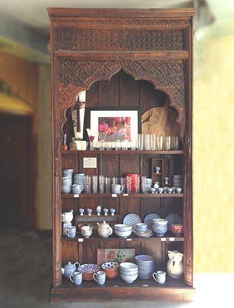 Large Indian Carved Palace Shelves