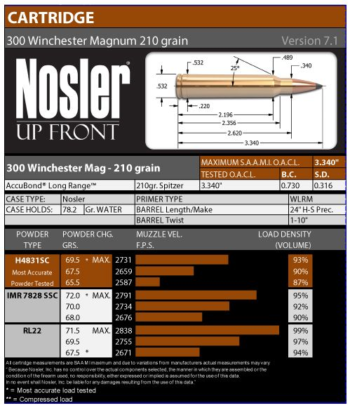 Official Nosler 300 Win Mag 210gr ABLR Load Data | Reloading