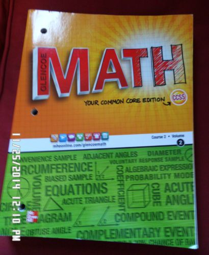 Glencoe Math Course 2 Student Edition Volume 2 By Mcgraw Hill Education Glencoe Math Math Courses Math