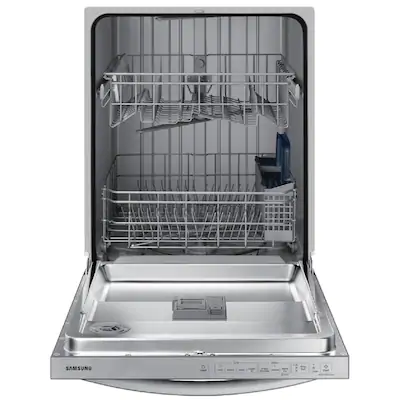 Samsung 55 Decibel Top Control 24 In Built In Dishwasher Stainless Steel Energy Star Lowes Com Top Control Dishwasher Built In Dishwasher Buying Appliances