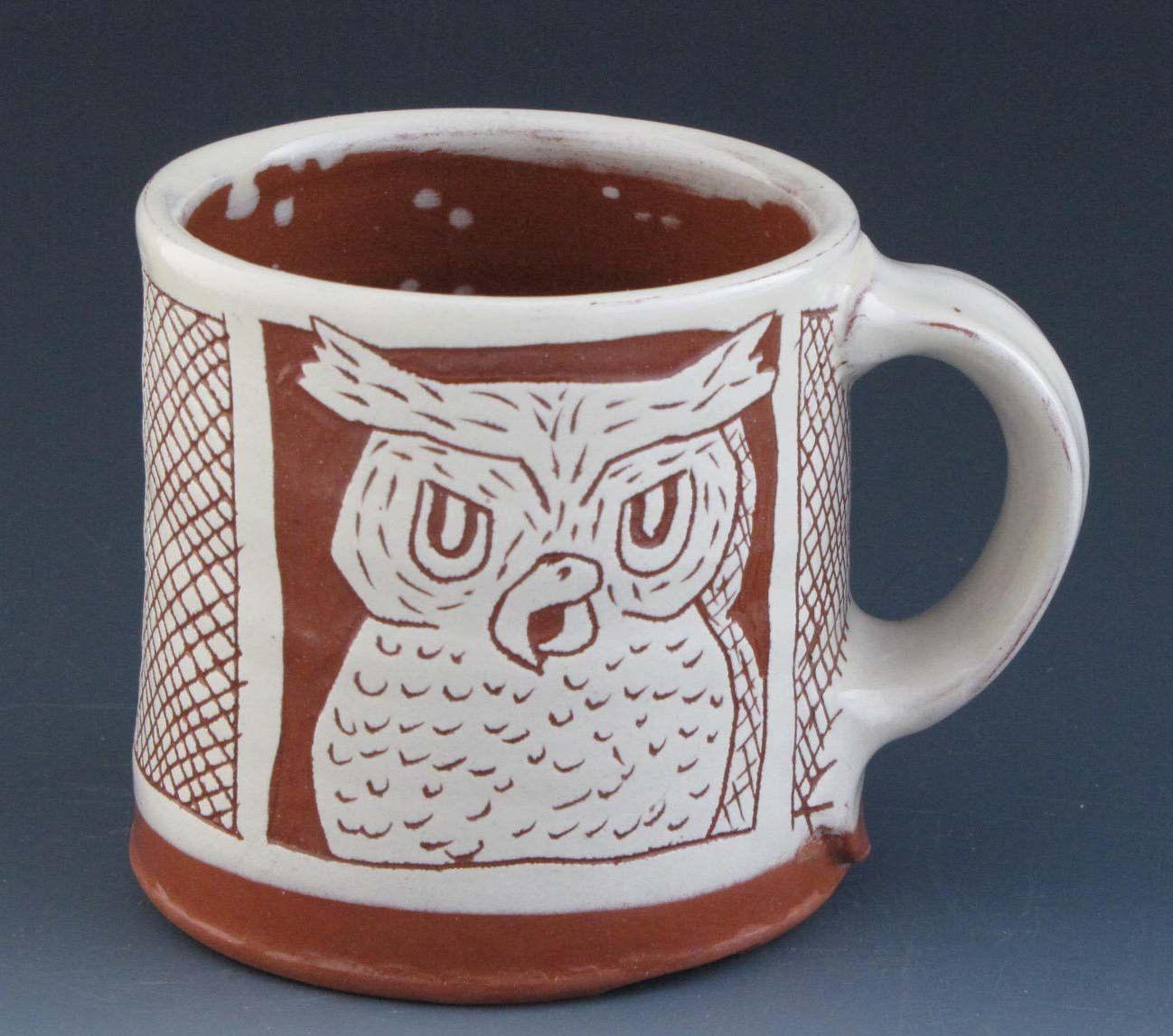 Coffee Mug with Rabbit and Owl