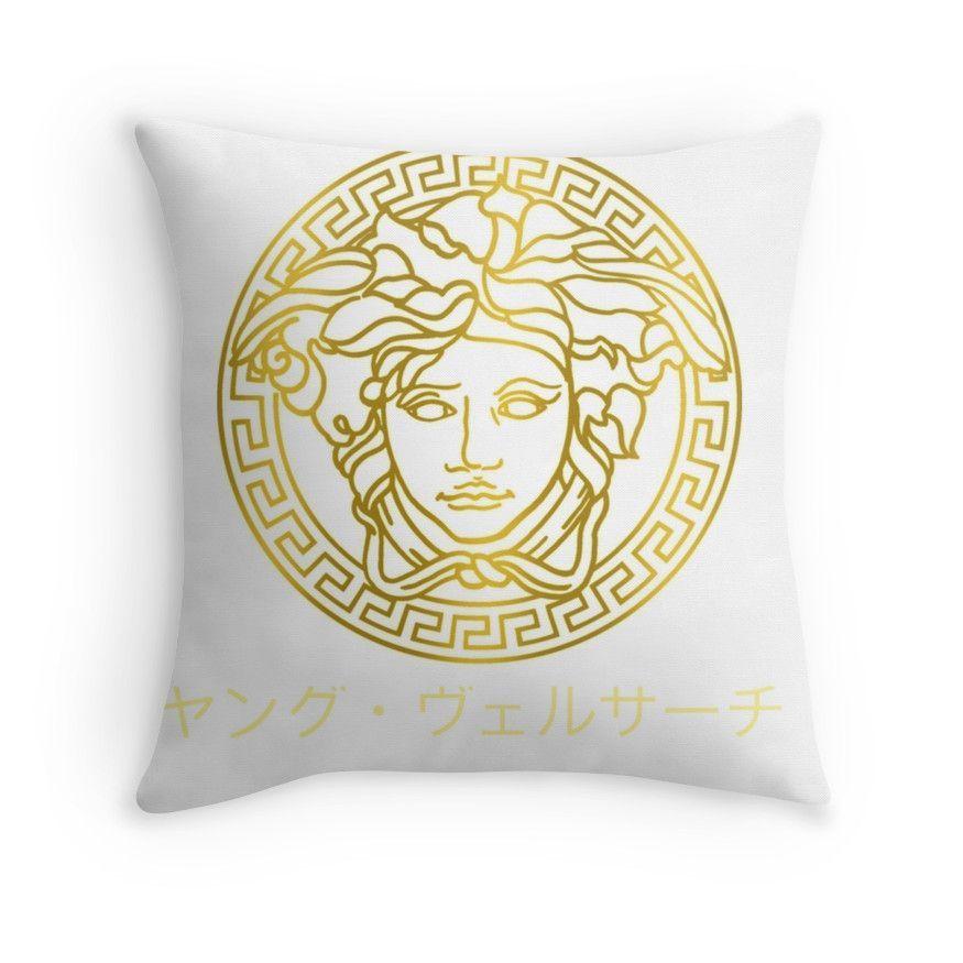 Young Versace Throw Pillows