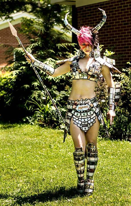 8 Awesome Costumes Made Of Magic The Gathering Cards Cool