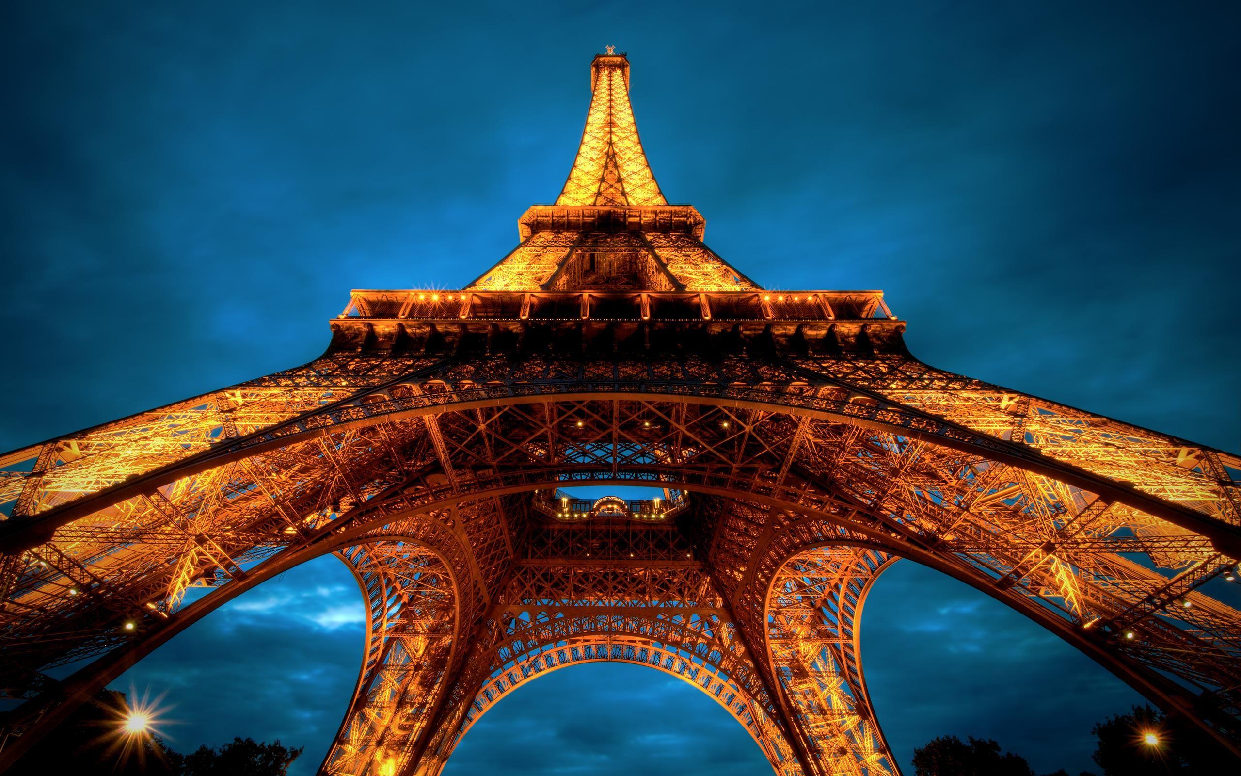 Vue Magnifique Vue Magnifique Sous La Tour Eiffel Fonds Décran