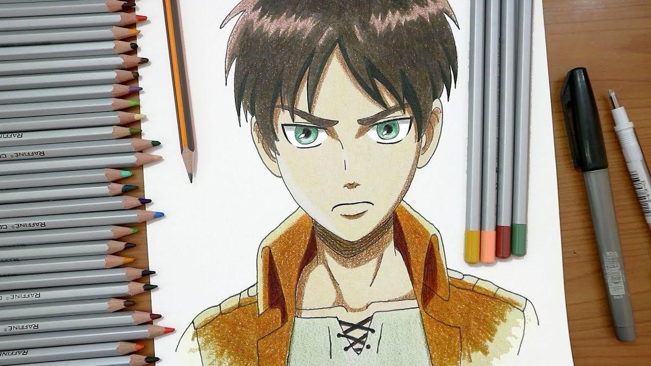 رسم ايرين ييغر من انمي هجوم العمالقة Attack On Titan Sketches Art Anime Art