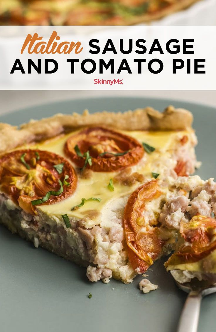 Italian Sausage and Tomato Pie images