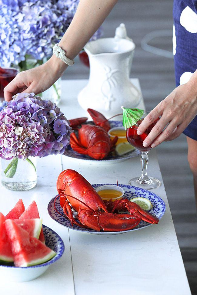Fancy shore dinner... | Lobster bake, Summer dining ...