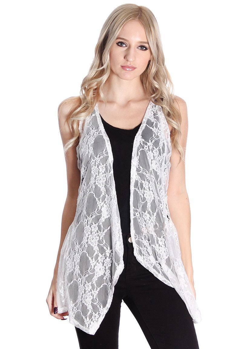 Ivory Lace Floral Patterened Cardigan #wholesale fashion ...