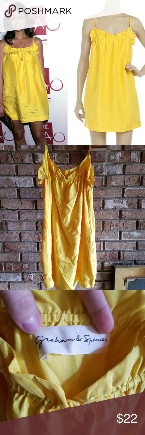 Defect dress yellow
