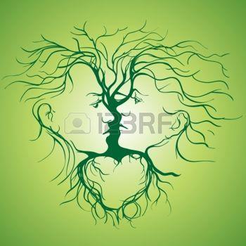 Ombre Chinoise Branche Silhouette De Couple Qui Sembrasse