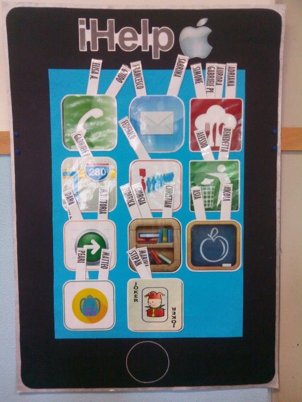 Ihelp cartellone per gli incarichi di classe for Idee per cartelloni scuola infanzia