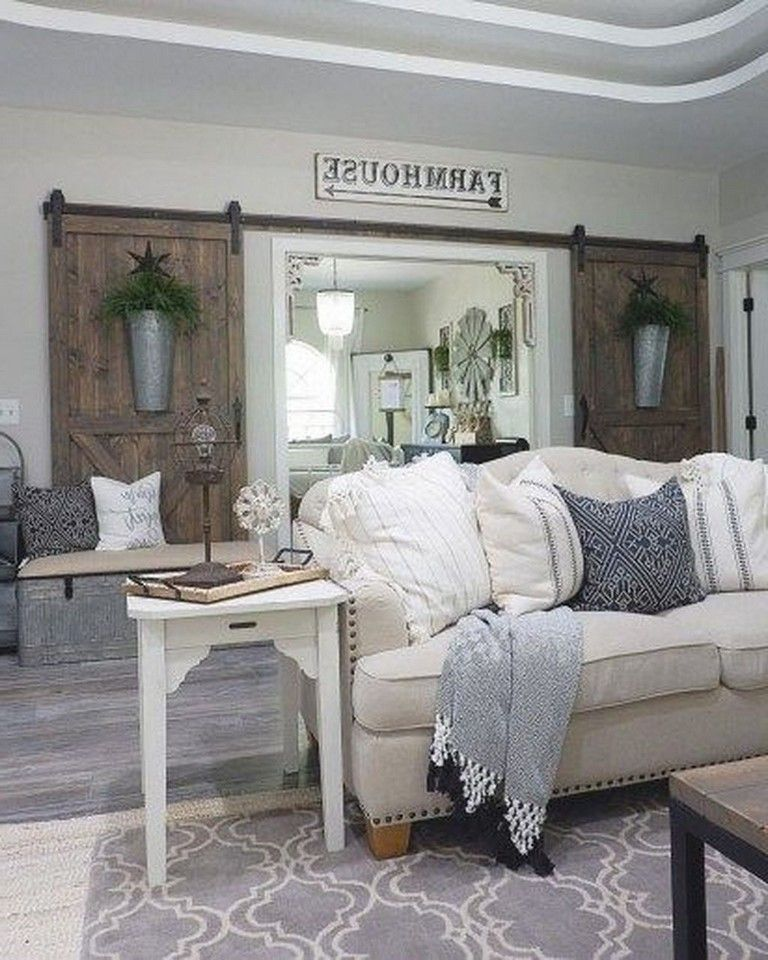 30 Lovely Rustic Farmhouse Living Room Design Ideas Decor In 2020 Farmhouse Decor Living Room Farm House Living Room Living Room Decor Country