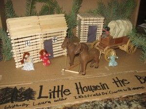 Little House On The Prairie Diorama Little House Wood Crafts