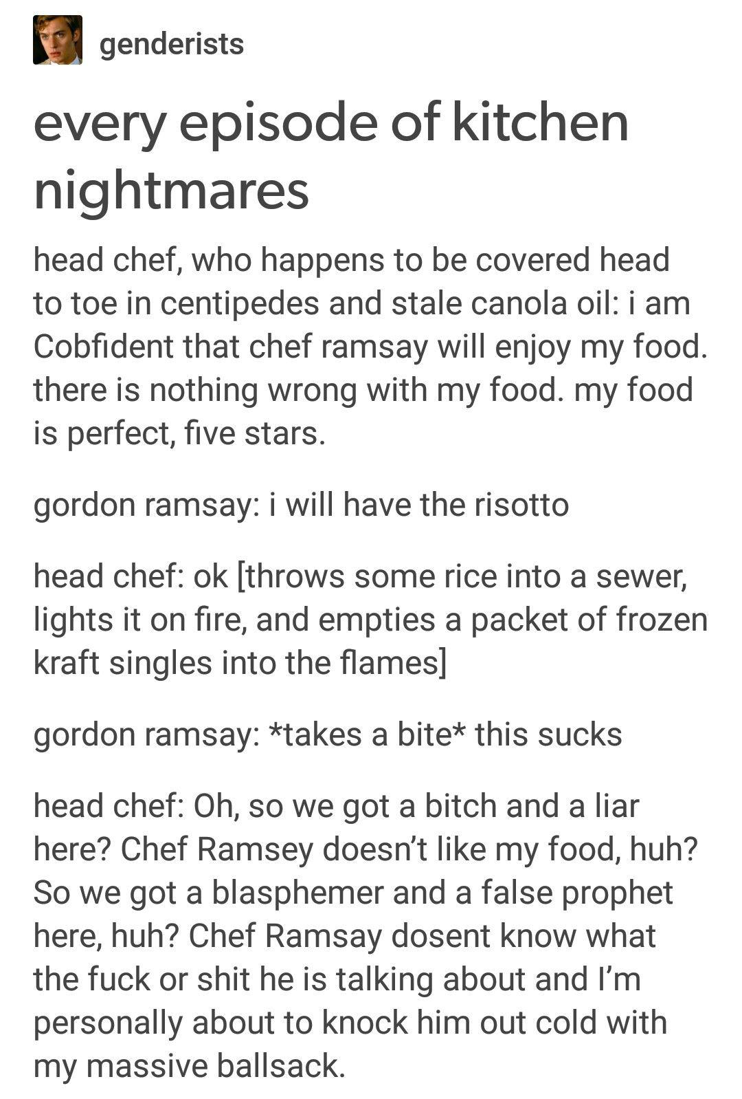 Kitchen Nightmares | wapow my brethren | Pinterest | Memes, Funny ...