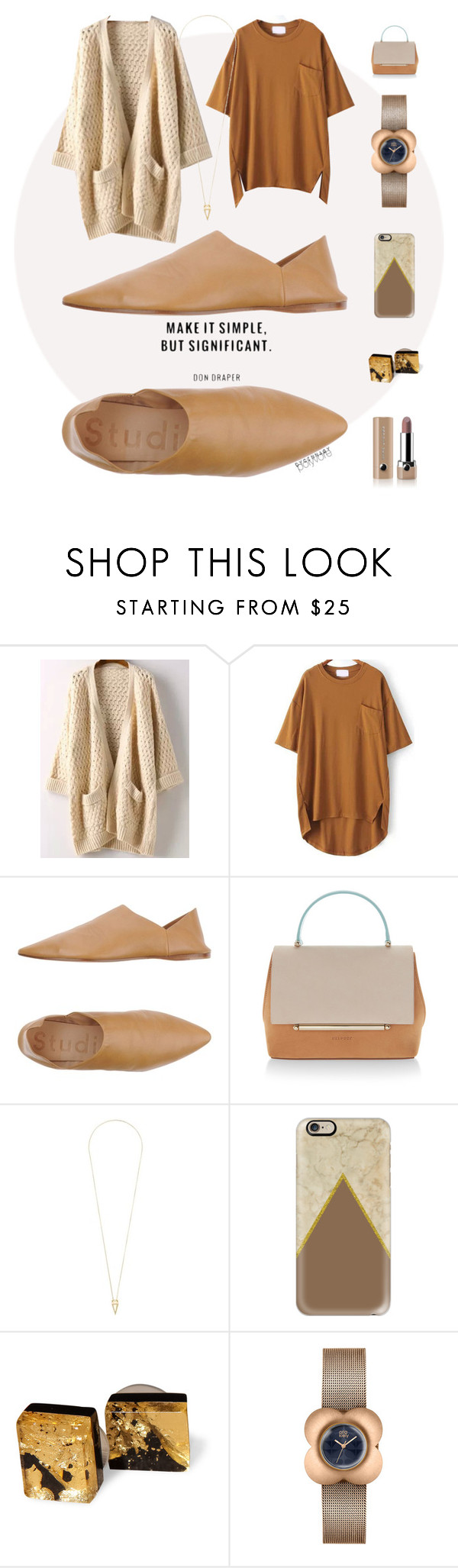"""Simply Significant"" by dycinnagy ❤ liked on Polyvore featuring Acne Studios, Delpozo, Noor Fares, Casetify, Orla Kiely, Marc Jacobs, simple, nude, camel and FavoriteColors"