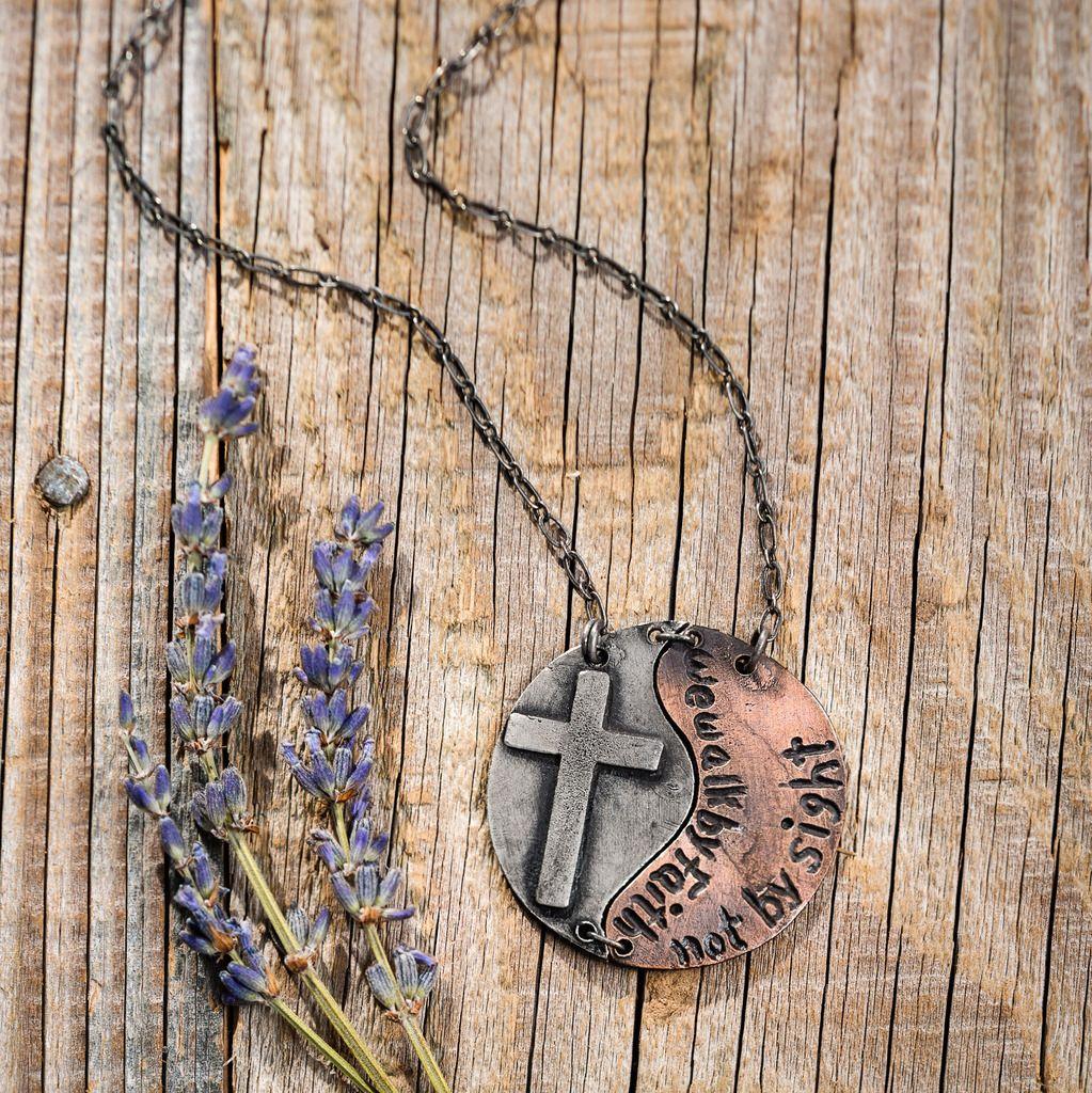 Walk By Faith Necklace - Anju Jewelry