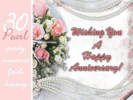 Thirtieth anniversary ecard greetings profile