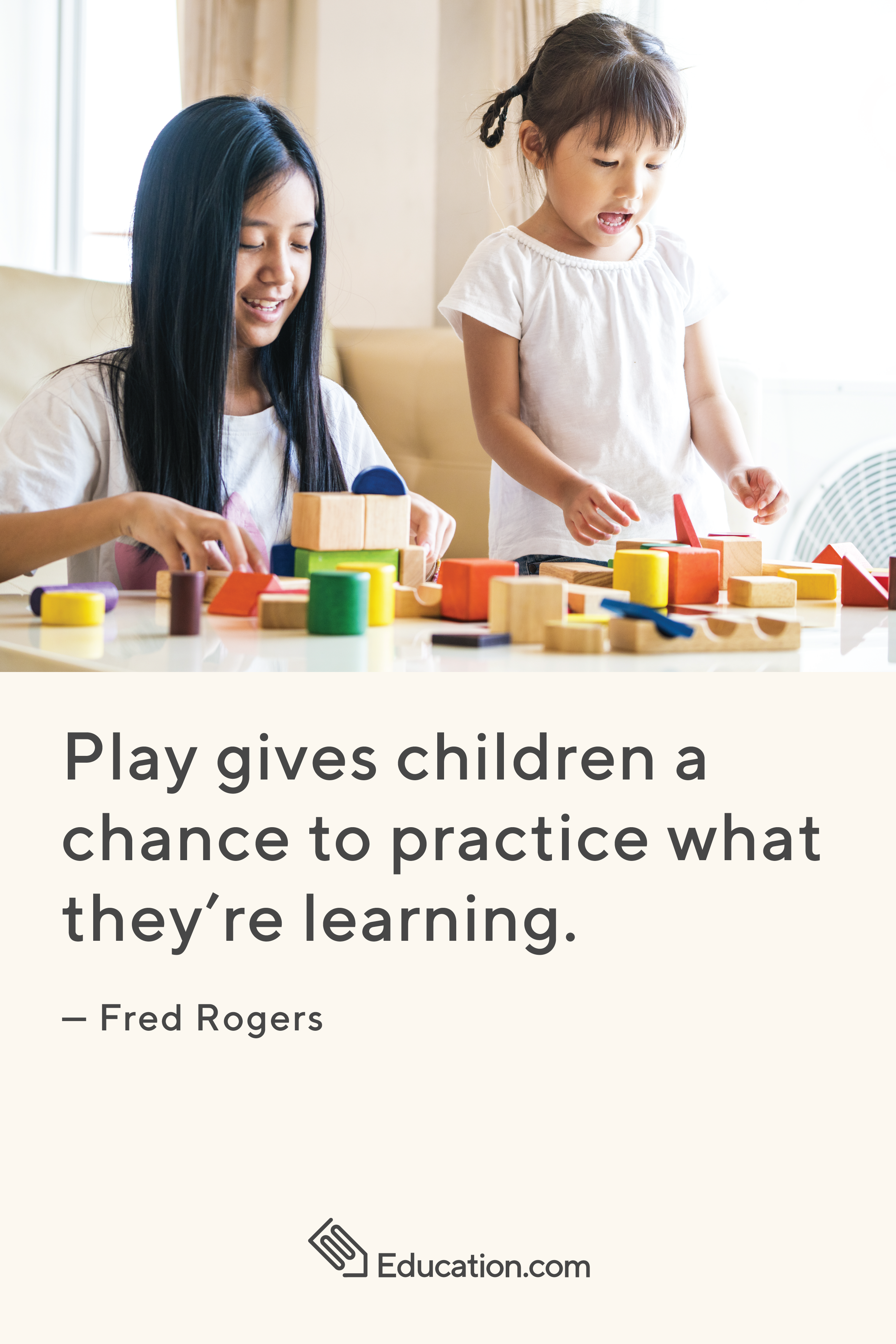 Play Is A Key Part Of Learning Inspiration Mrrogers