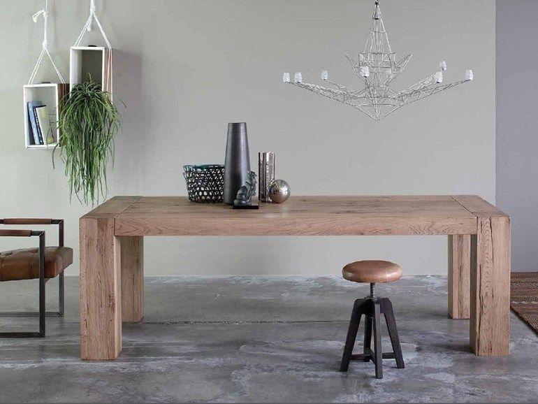 Tavolo Salvaspazio ~ Brooklyn by devina nais tavolo rettangolare in legno massello in