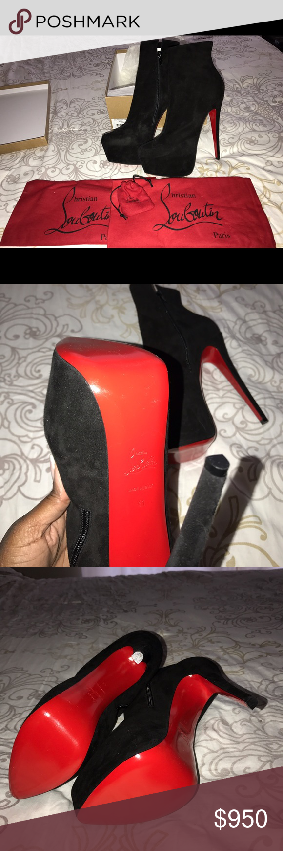 Daff Booties Size 41 (US size 10) new in box, never worn!! Retail for $1500. MAKE ME AN OFFER!! Guaranteed authentic!! Christian Louboutin Shoes Ankle Boots & Booties