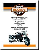 Motorcycle birthday party invitation set of 12 motorcycle motorcycle birthday party invitation set of 12 filmwisefo Image collections