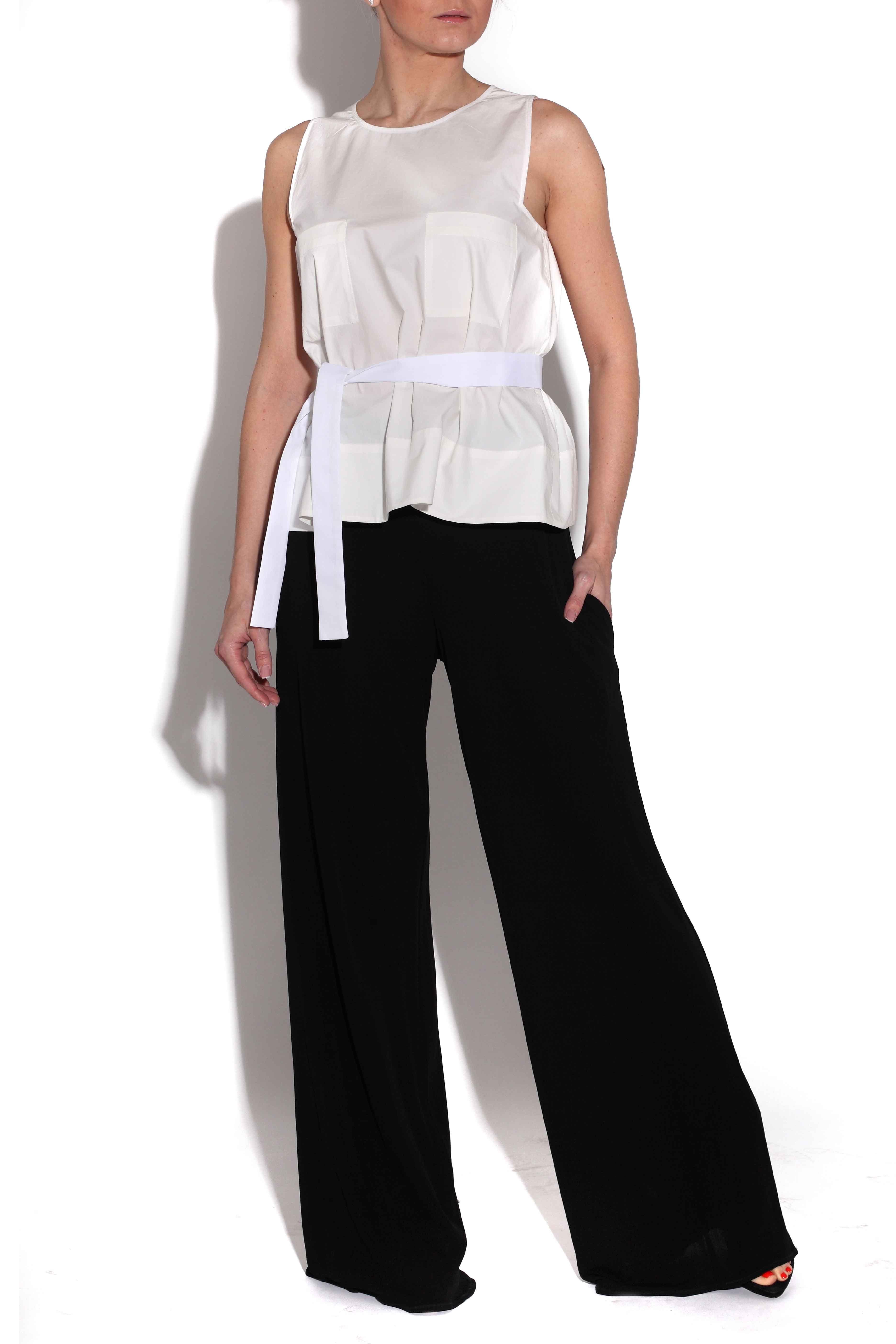 389a5195a Pantalones palazzo de color negro de Lydia Delgado