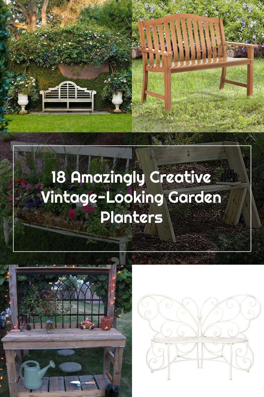Old Bench Garden Planter #garden #planters #vintage #decorhomeideas